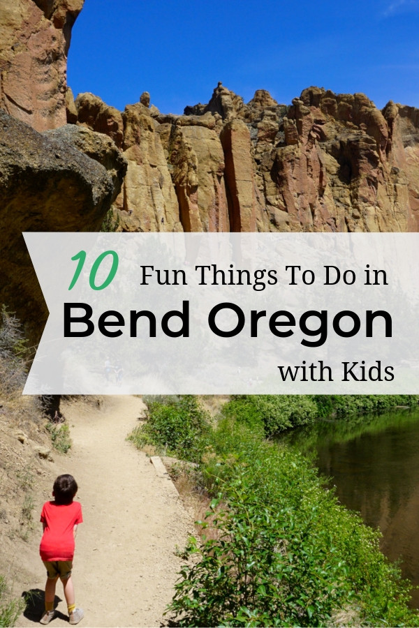 10 fun things to do with kids in Bend Oregon. This list is created with parents in mind, so you\'ll find something everyone will enjoy in Bend. Be sure to wind down the day at a local brewery!